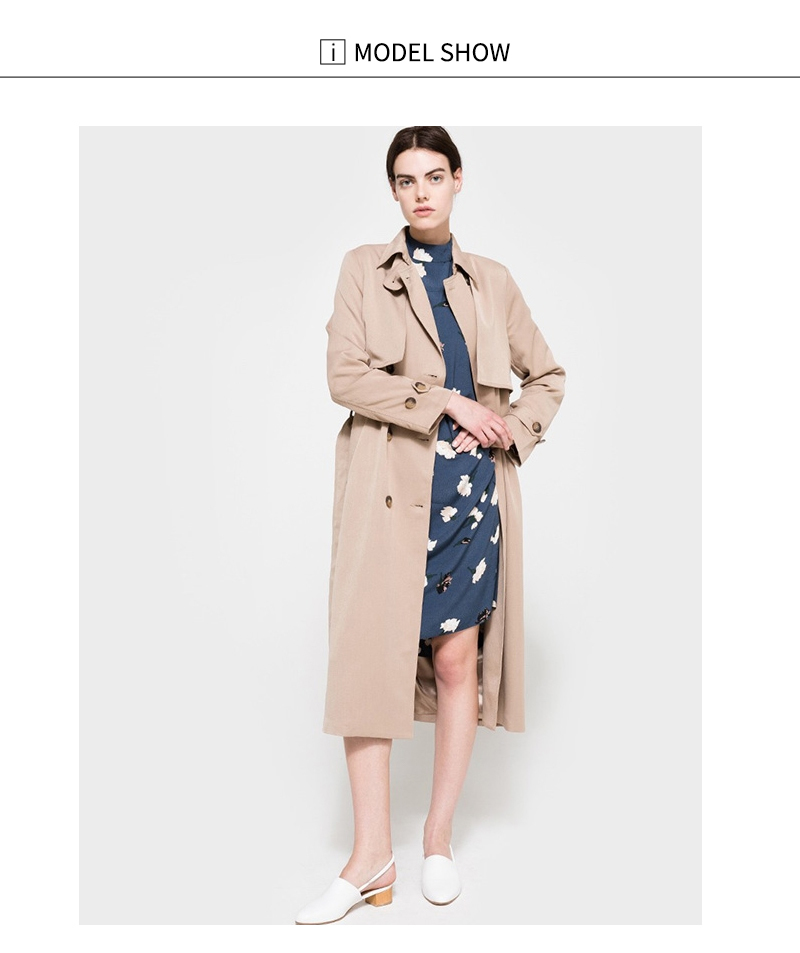 HDY Haoduoyi 19 Autumn New High Fashion Brand Women Classic Double Breasted Trench Coat Waterproof Raincoat Business Outerwear 8