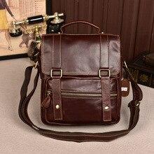 Fashion retro cowhide leather briefcase male vertical business genuine leather bag male totes bag handbag shoulder Messenger bag