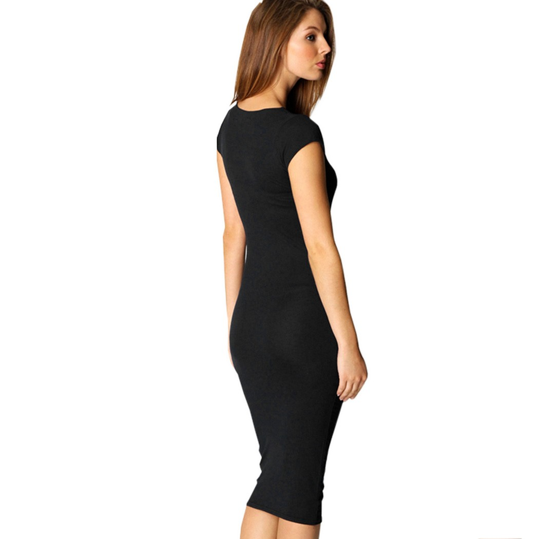 Online Get Cheap Black Jersey Dress -Aliexpress.com | Alibaba Group