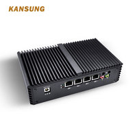 Kansung OEM Mini PC 4 Gigabit LAN ports Intel Core i5 Windows AES NI as Router Firewall Linux Fanless Mini Computer