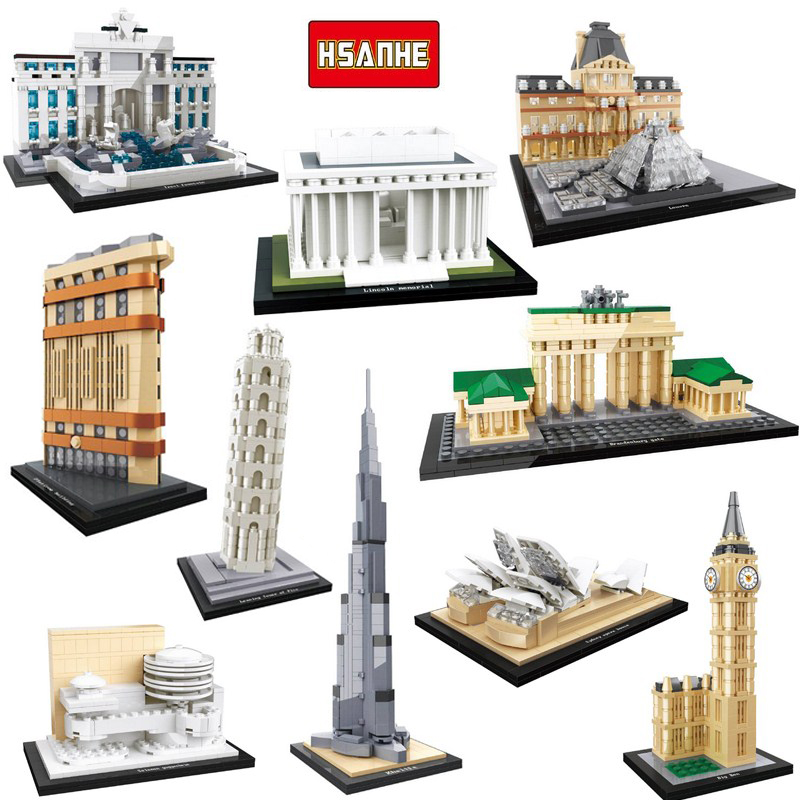 da03fd4fe Diamond mini blocks NO compatible legoed Great City Architecture New York  model building kits blocks kids toys children bricks-in Blocks from Toys &  Hobbies ...