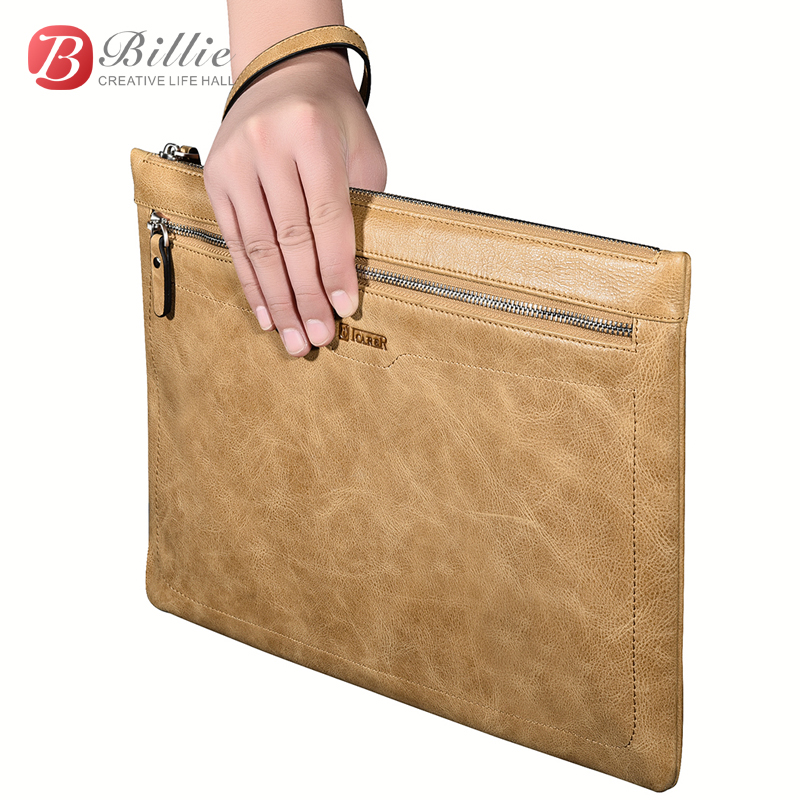 Laptop  Zipper Sleeve Bag Briefcase Real Leather Case Cover For Apple iPad mini 2 3 4 for ipad air Pro 7.9, 9.7, 12.9 '' Handbag oatsbasf genuine leather laptop bag for macbook pro air 13 3 rose