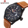 Relogio Masculino Fashion Watch NAVIFORCE Quartz Watch Sport Military Watches Men Luxury Brand Leather Strap Men Clock 9044