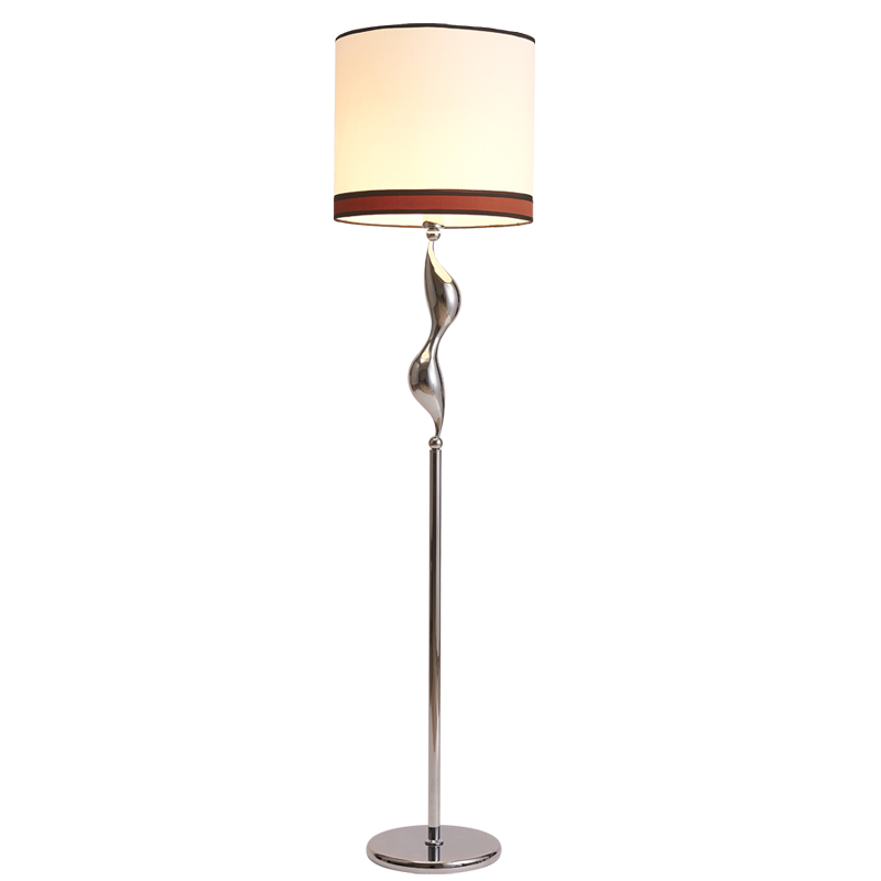 Modern standing lamps for living room bedroom kids long floor stand lamp chrome cloth fabric for Floor standing lamps for living room