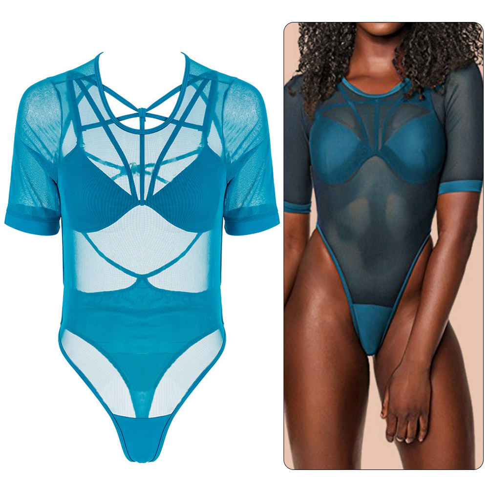 Super Sexy Swimwear Mesh Hollow Summer Beach Suit Women One Piece High Cut Swimsuit Halter Monokini Bikini Bathing Suit Bodysuit summer 2017 printing swimwear one piece swimsuit women beach bathing suit sexy halter top monokini vintage swimsuits d0111