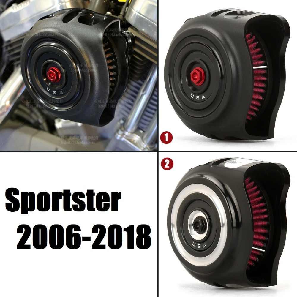 Motorrad Spike Luftfilter Ansaugreiniger Kit f/ür Harley Sportster 1200 883 Chrom