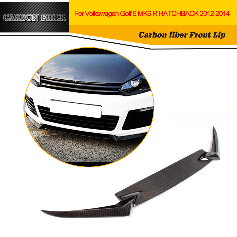 Carbon Fiber Racing Front Lip Splitters Apron For Volkswagen VW <font><b>Golf</b></font> R20 <font><b>R</b></font> Hatchback 2 Door Only 2010 <font><b>2011</b></font> 2012 2013 image