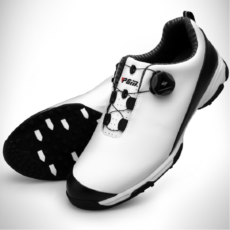 New 2018! PGM golf shoes men's sneakers waterproof shoes golf sports activities shoes rotating Breathable Professional Training pgm authentic golf shoes men waterproof anti skid high quality male sport sneakers breathable shoes
