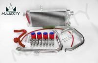Переднее Крепление Интеркулера Комплект алюминиевый трубопровод для 96-01 VW PASSAT A4 B5 1 8 T силиконовый шланг цвет красный размер 66*38*19