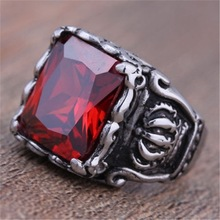 MINCN trendy mens custom ring punk style round stainless steel jewelry high quality crystal gold