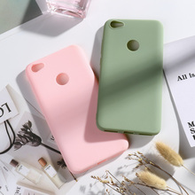 все цены на Xiaomi Redmi Note 5A Case Redmi Note 5A Prime Cases Candy Color Matte Soft TPU Cover For Xiomi Redmi Note 5A Prime Phone Case онлайн