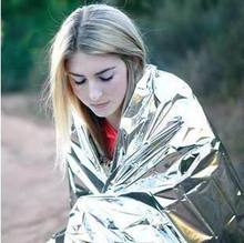 First Aid Emergency Blanket Survival Rescue Curtain Outdoor Life-saving Tent Reusable Foil Camping Sleeping Bag 130*210cm