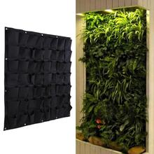 1 Pcs 56 Pocket flowerpot Indoor Outdoor Wall Hanging Planter Vertical Felt Garden Plant Grow Container Bag 100 *100cm