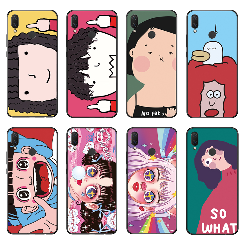 2019 Latest Design Rigtfky Phone Case For Huawei Nova 3 3i Silicone Case Soft Pink Lovely Girl Dog Pattern Tpu For Nova 3i Bags Phone Cover Clear-Cut Texture