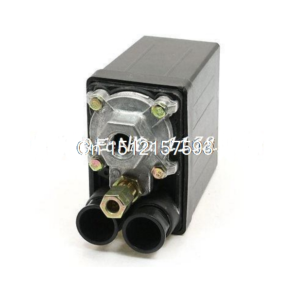 16A AC230V 175PSI 12Bar One Port Air Compressor Pressure Switch Control Valve heavy duty air compressor pressure control switch valve 90 120psi 12 bar 20a ac220v 4 port 12 5 x 8 x 5cm promotion price