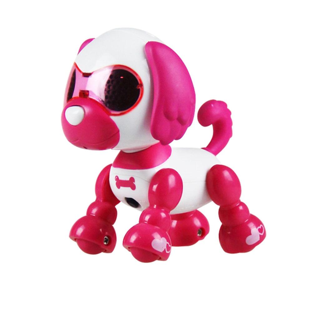Многоцветная ABS декоративная головоломка электрическая собака музыкальная собака практическая говорящая головоломка игрушка для собаки Красивая домашняя развивающая - Цвет: red