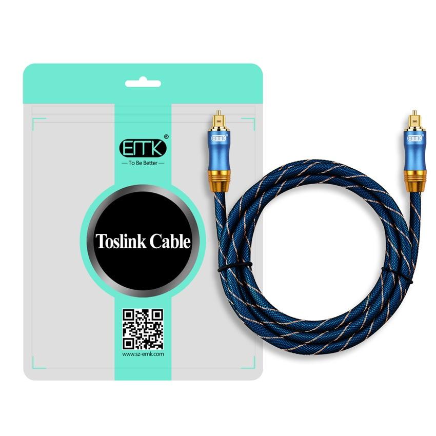EMK Digital Optical Audio Toslink Cable Fiber Optic Audio Cable 1m 2m 3m 10m 15m for Hi-Fi DVD TV (10)