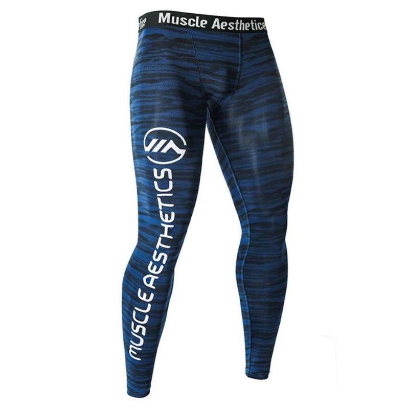 Hombres Compression Tight Leggings correr deportes gimnasio Fitness pantalones de secado rápido entrenamiento Crossfit Yoga Bottoms