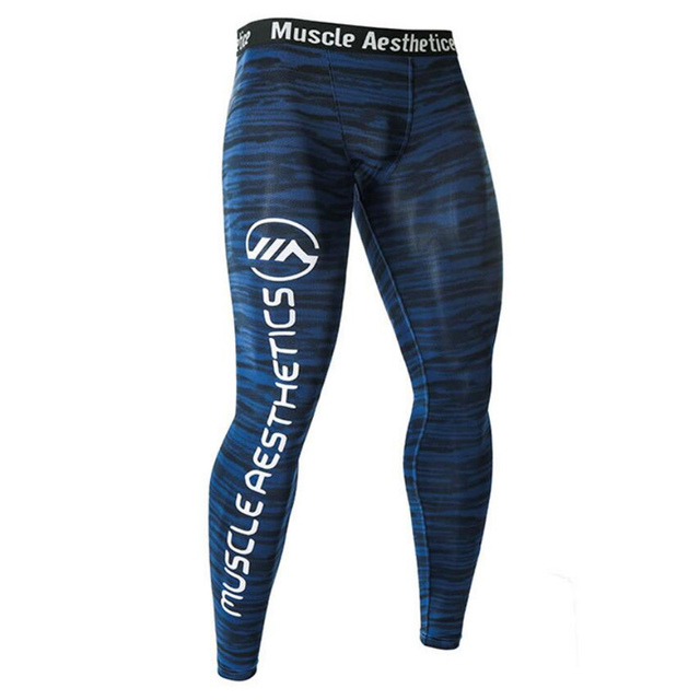 e0a1cd1d638282 Men Compression Tight Leggings Running Sports Male Gym Fitness Pants Quick  dry Trousers Workout Training Crossfit
