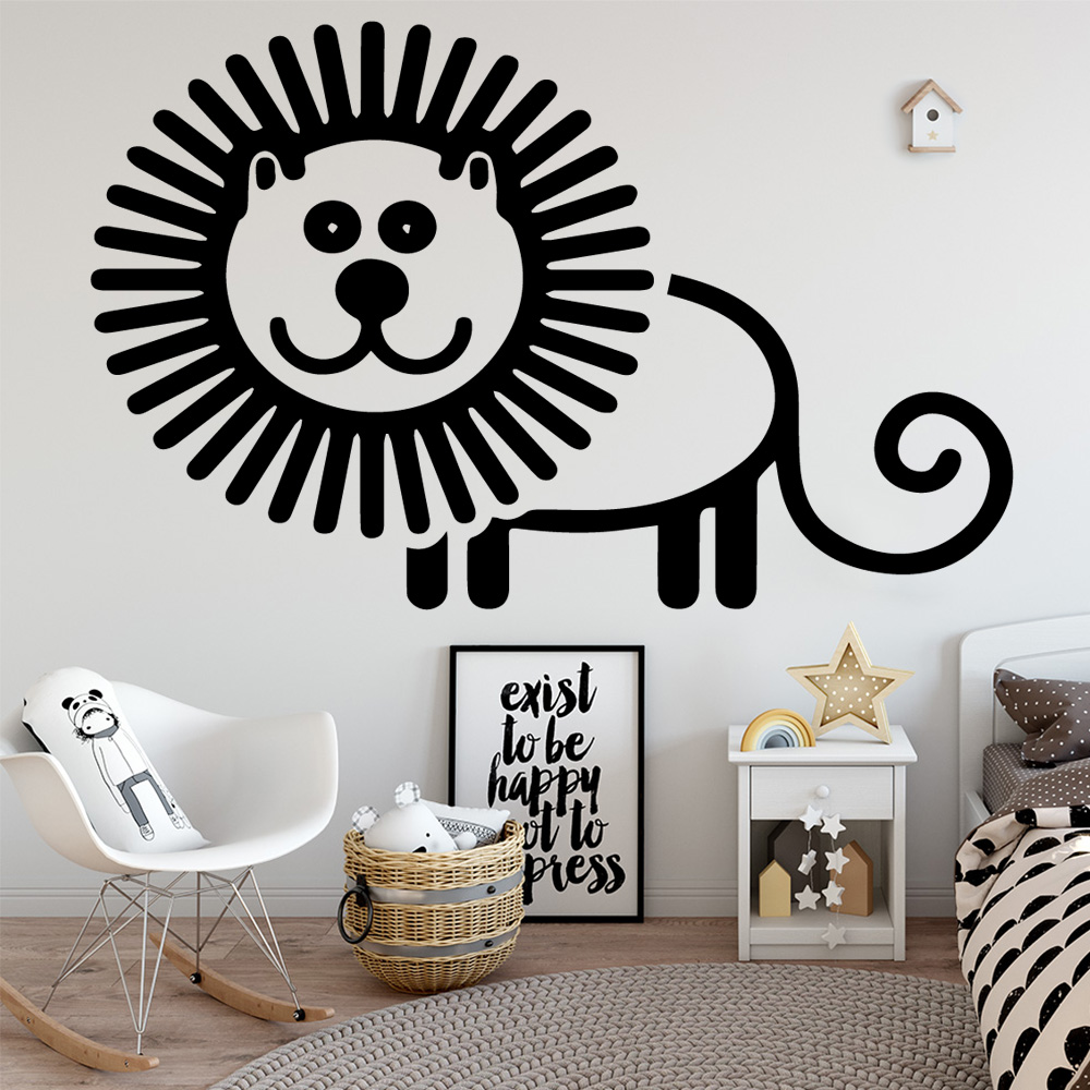 Diy lion Wall stickers Removable Wall Stickers Diy Wallpaper Nursery Room Decor Art Decals in Wall Stickers from Home Garden