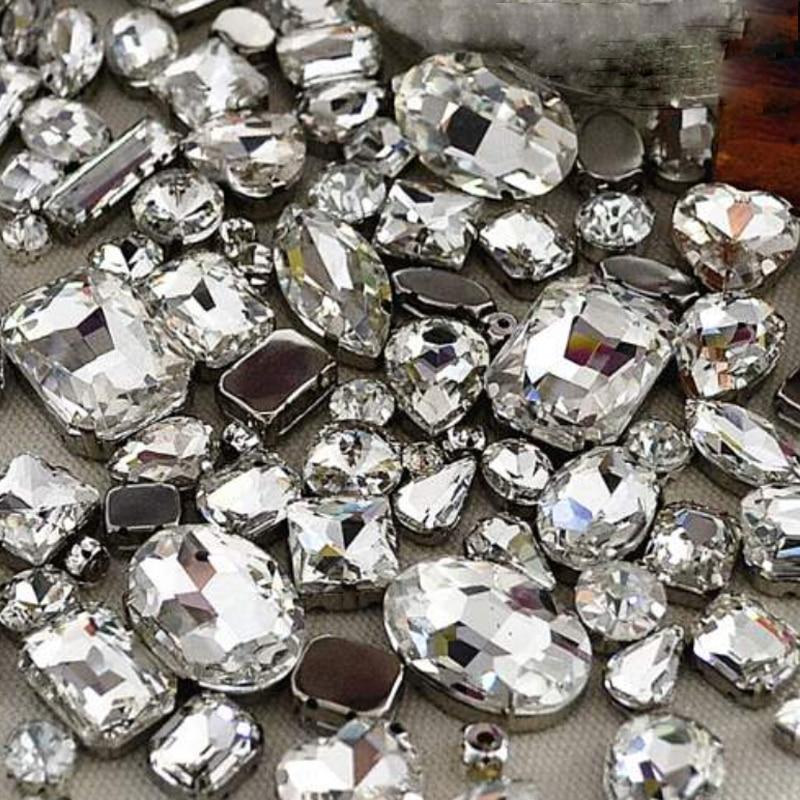 Garra Diamantes de imitación Cristal Gota de agua 8 mm 8x13 mm 10x14 - Artes, artesanía y costura