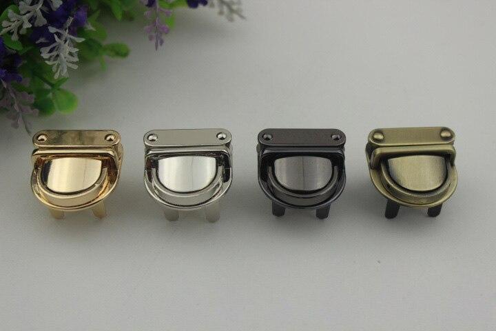 3x3cm Metal Handbag Clasp Turn Lock Buckle Bag Accessories Twist Lock For DIY Bag Purse Hardware Closure New 4 Color