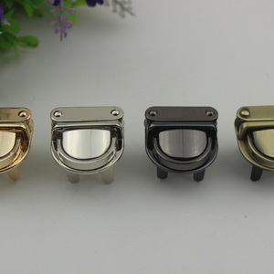 3x3cm Metal Handbag Clasp Turn