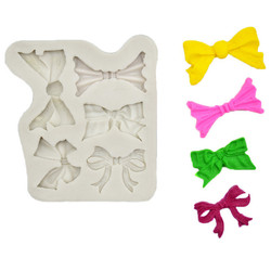 LINSBAYWU Sugarcraft Cute Pink Bow Tie Cake Silicone Mold Fondant Molds Decal Chocolate