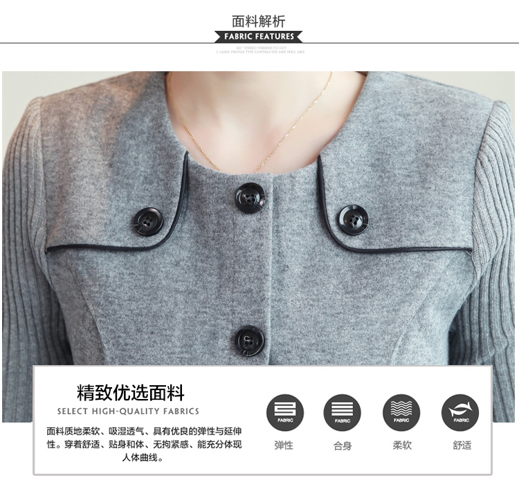 winter new round collar single-breasted cloth dress belt buttons A word women dresses Korean fashion outfit lady vogue vestido 11