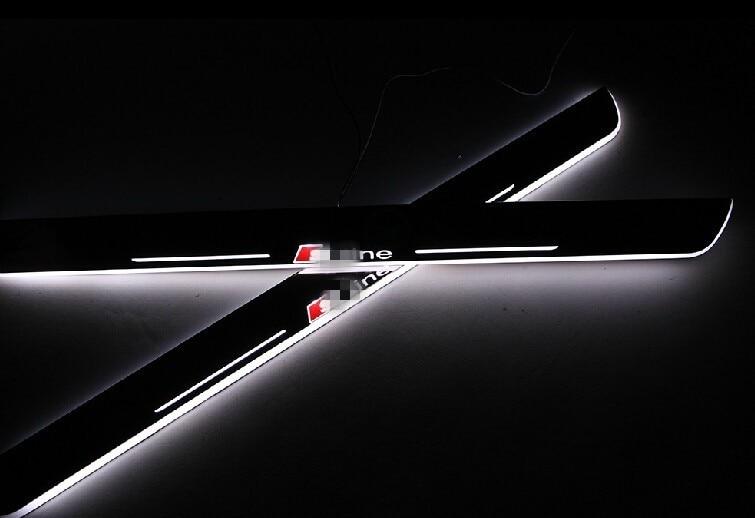 Osmrk LED moving door scuff, Door light, door sill for audi A3/S3, A5/S5, A1/A4, A5/S5/RS5,A6L C7,A7/S7/RS7,Q5,Q3,Q7 2pcs доска для объявлений dz j1a 169 led led jndx 1 s a