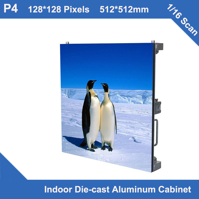 TEEHO 6pcs/lot P4 indoor Diecasting Cabinet rental 512mm*512mm slim 1/16 scan,full color led screen rental custom led displayTEEHO 6pcs/lot P4 indoor Diecasting Cabinet rental 512mm*512mm slim 1/16 scan,full color led screen rental custom led display