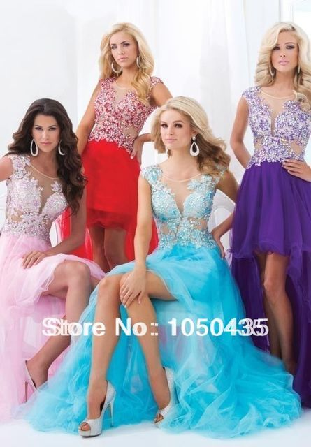 Sexy Pink Short Front Long Back Evening Dresses Homecoming Dresses
