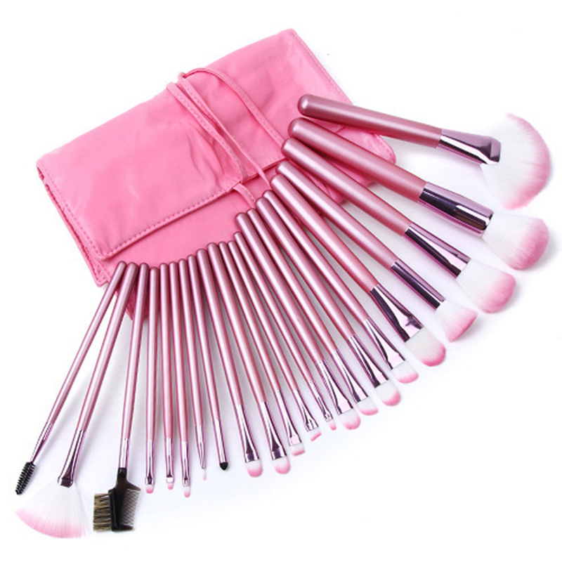 22Pcs Makeup Brushes Cosmetic Tool Kits Professional Eyeshadow Powder Eyeliner Contour Brush Set with Case bag pincel maquiagem high quality 18pcs set cosmetic makeup brush foundation powder eyeliner professional brushes tool with roll up leather case