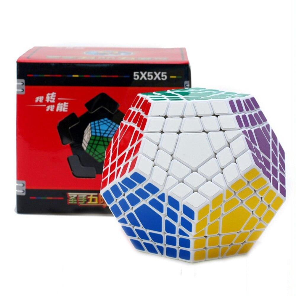 Shengshou 5x5x5 Megaminx Magic Cubes Puzzle Speed Competition Rubiks Cube Educational Toys Gifts for Kids Children 8pcs set shengshou s magic cubes 3 3 2 2 2x2 3x3 skew sq1 megaminx mastermorphix triangle pyraminx mirror rubix rubic cube
