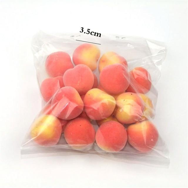 20 pièces/ensemble Simulation artificielle en plastique Mini faux fruits décor pomme Orange citron fraise accessoires décoration de fête à la maison 4