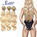 "Bleach Blonde Brazilian Hair 3Pcs Lot Human Virgin Hair Extensions 7A Brazilian Body Wave 10""-30"" Color 613 Blonde Virgin Hair"