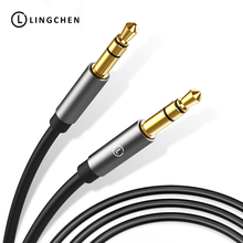 LINGCHEN 3.5mm Aux Cable For Car Jack 3.5mm Audio Cable Headphone Speaker Gold Plate Audio Video Cable For Xiaomi Redmi Huawei