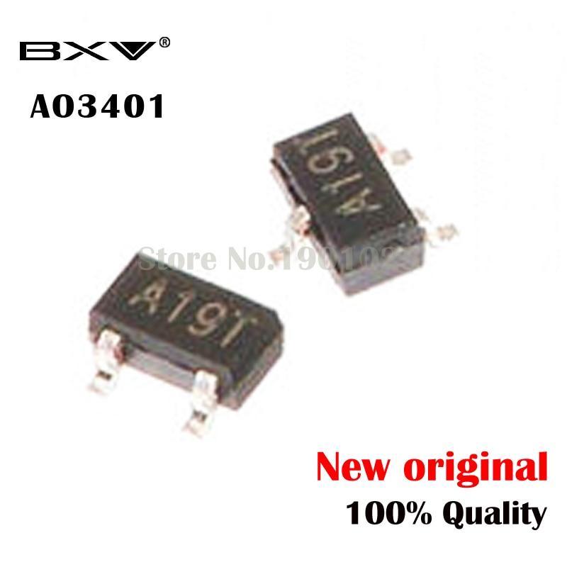 100PCS AO3401A SOT23 3401A SOT23 A19T SMD New And Original