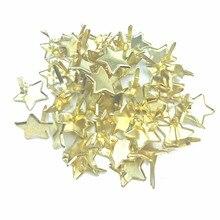 50 шт Золотая Звезда штифтики для скрапбукинга, украшение Attache Parisiennes штифтики для декоративного памятного альбома Adornos де металл пара скрапбук