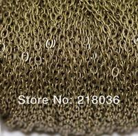 Antique Gold /Bronze Cable Open Link Iron Metal Chain For Necklaces Bracelet Accessories DIY Jewelry Findings 100m 3*2 mm N1551