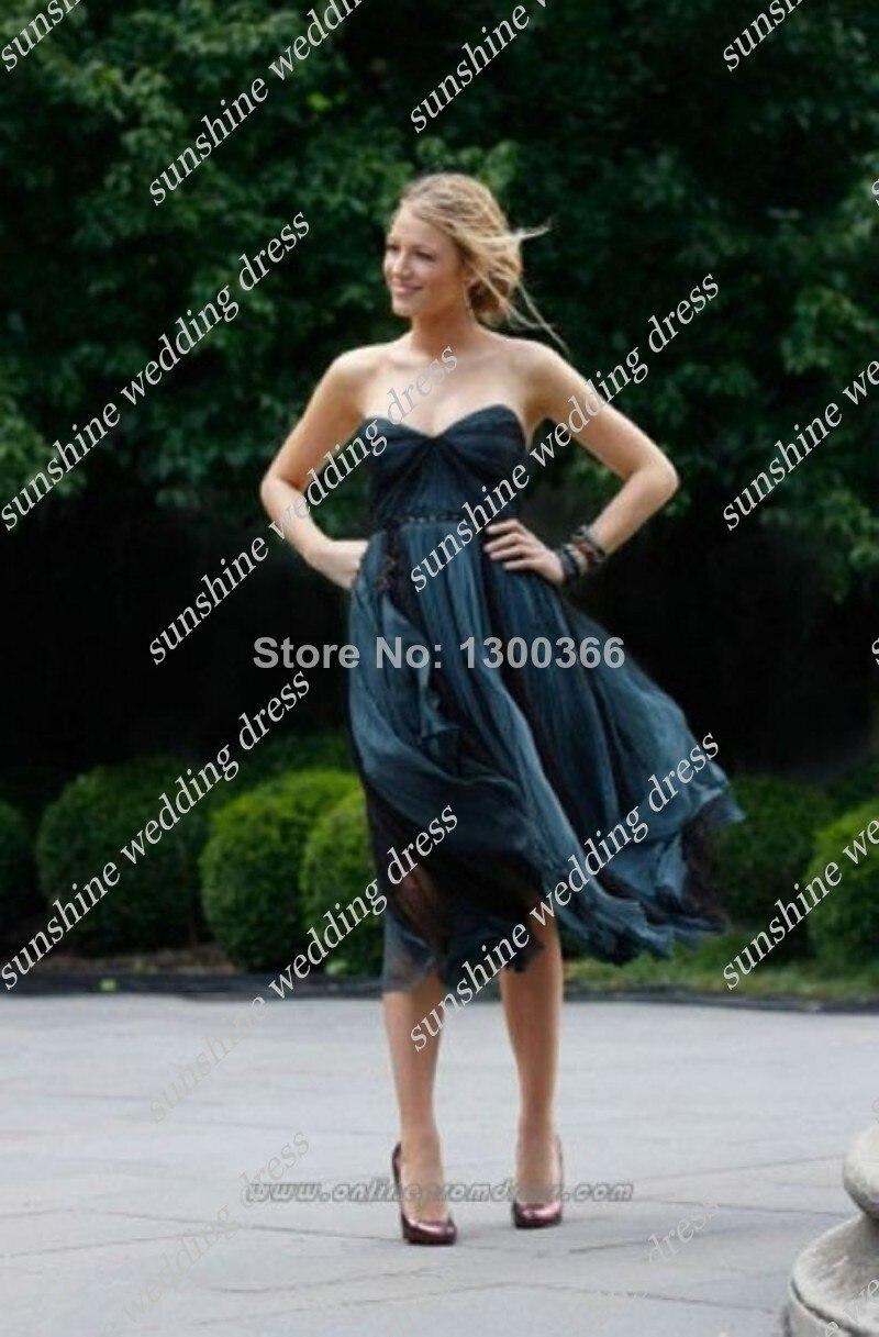 Aliexpress.com : Buy Strapless Tea Length Celebrity Dresses For ...