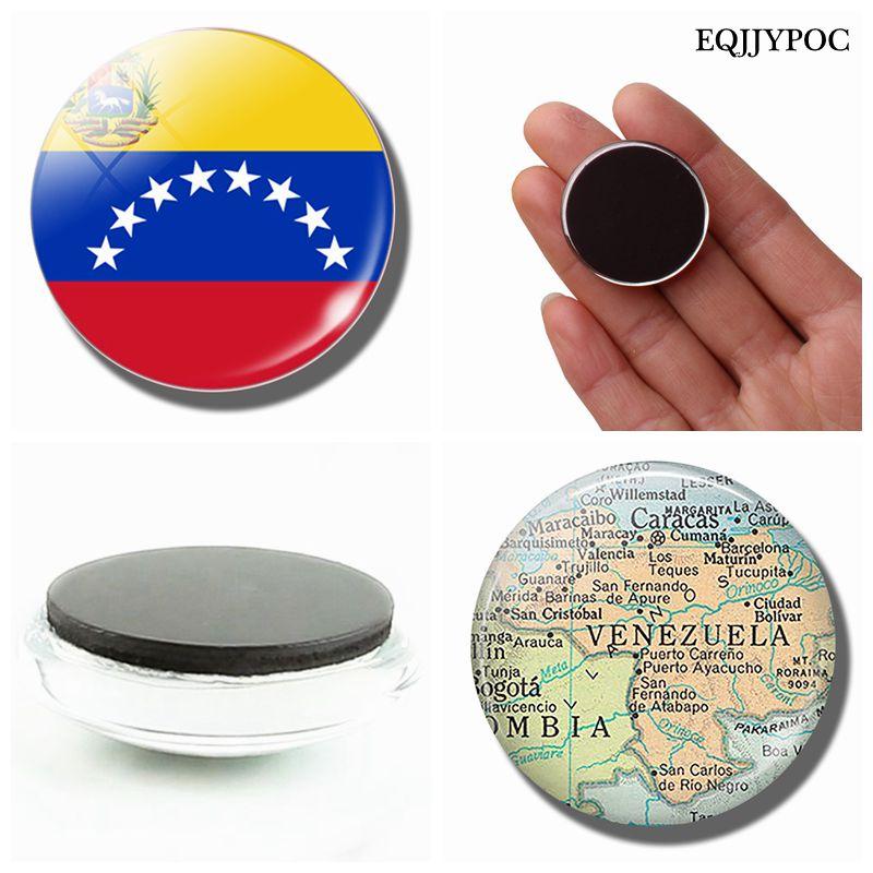 Боливарианская Республика Венесуэла флаг карта 30 мм магнит на холодильник стеклянный кабошон, магнитные наклейки на холодильник держатель домашний декор
