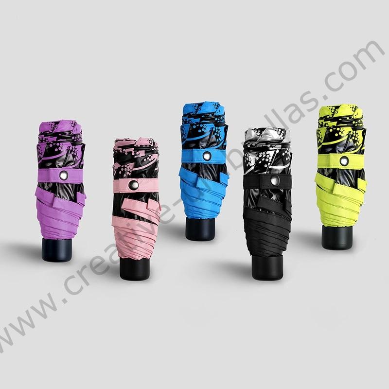 3pcs get 1pc free Five fold 210Tpongee 5 times black coating anti uv umbrella alloy fiberglass butterflies love flowers parasol in Umbrellas from Home Garden