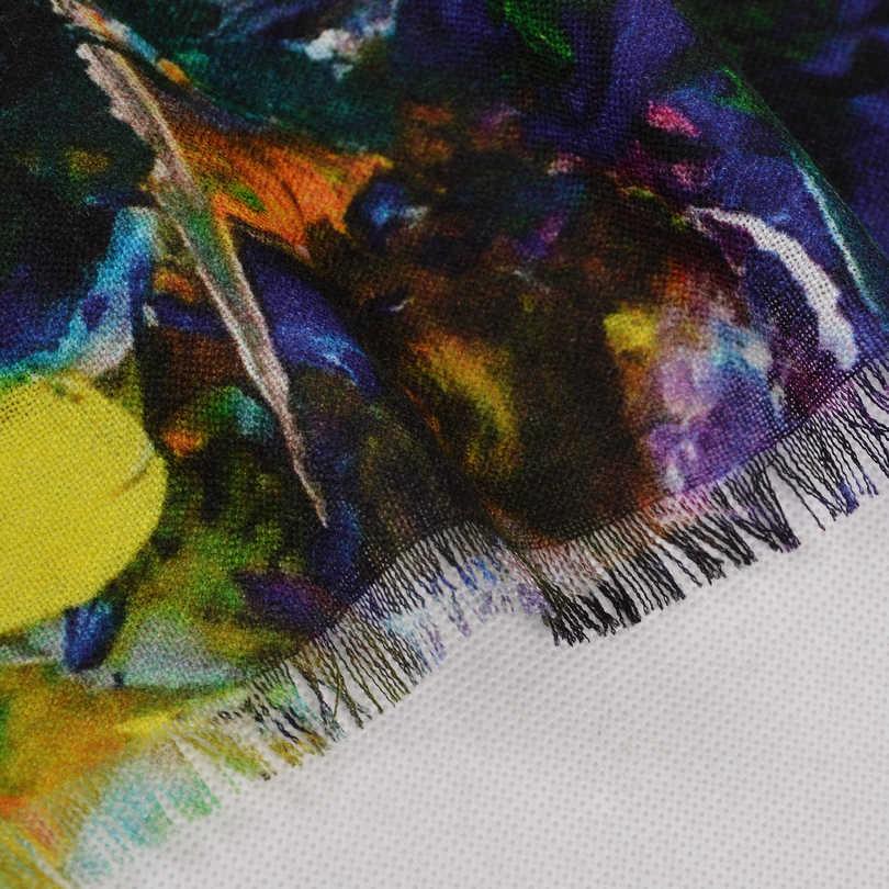 Pura Lana Sciarpe di Nuovo Disegno Più Il Formato di Lana Involucri Della Sciarpa di Modo Elegante di Marca Pashmina Delle Donne Del Tutto-Fiammifero Inverno Caldo Dello Scialle Della Sciarpa