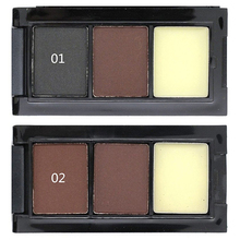 Professional Eye Brow Makeup 2 Colors Eyebrow Powder Eyebrow Wax Palette Brush