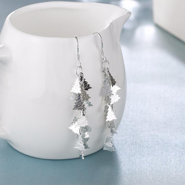 Elegant Christmas Tree Drop Earrings