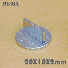 100Pcs 20x10x2 Neodymium Magnet Permanent  N35 NdFeB Powerful Magnetic Magnets aimants magnetiques puissant Disc 20mmx10mmx2mm