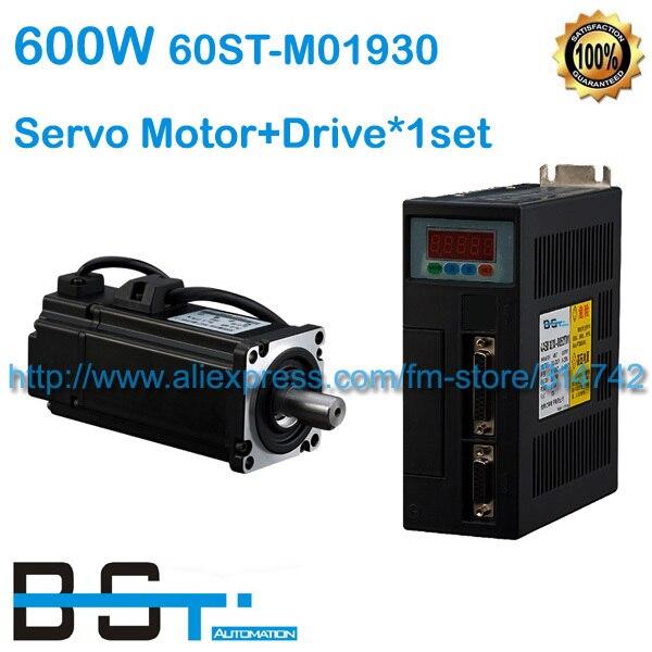 新しい 0.6kw 60ST M01930 AC サーボモータセット 600 ワット 3.5A 1.91N.m 3000 RPM モーター + サーボドライブケーブルとコネクタ 60ST  グループ上の 家のリフォーム からの AC モーター の中 1
