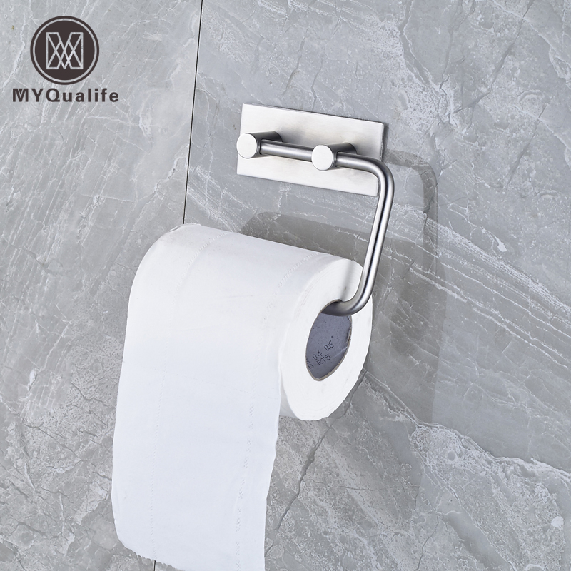 цены Brushed Nickel Toilet Paper Holder Bar Wall Mounted Bathroom Roll Paper Rod Free Shipping