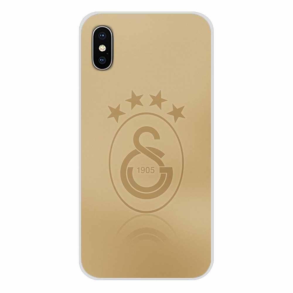 Galatasaray SK logo Accessoires Telefoon Gevallen Covers Voor Samsung Galaxy S4 S5 MINI S6 S7 rand S8 S9 S10 Plus opmerking 3 4 5 8 9